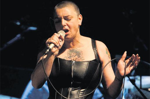 Sinead O'Connor performs in the Olympia in Dublin last night