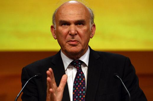 British business secretary Vince Cable. Photo: Getty Images