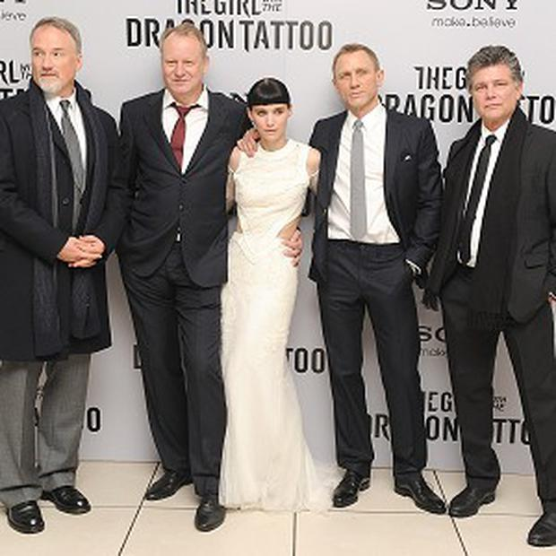 David Fincher directed Stellen Skarsgard, Rooney Mara, Daniel Craig and Steven Zaillian in The Girl With The Dragon Tattoo
