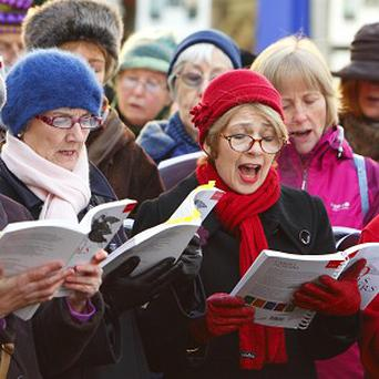 Around 17,117 people across the UK and beyond united to sing a programme of festive favourites