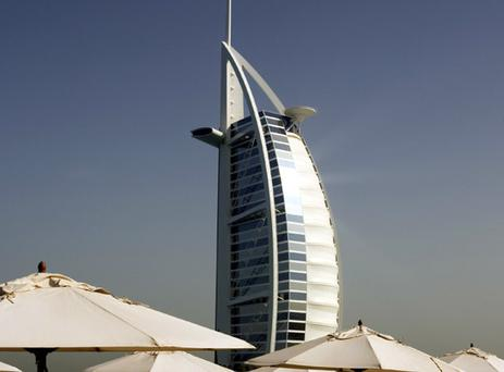 The iconic Burj Al Arab Hotel, Dubai. Photo: Getty Images