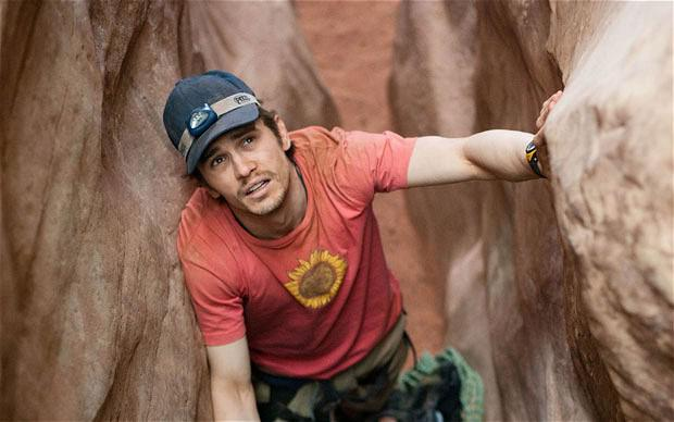 James Franco as Aron Ralston in the film 127 hours