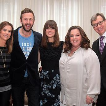 Stars of the film Bridesmaids, which has been nominated for a Golden Globe
