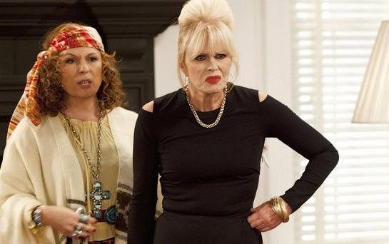 Jennifer Saunders and Joanna Lumley in Ab Fab