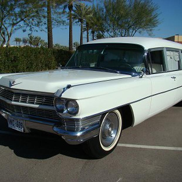 The 1964 Cadillac hearse used to carry the body of US President John F Kennedy (Barrett-Jackson Auction Company)