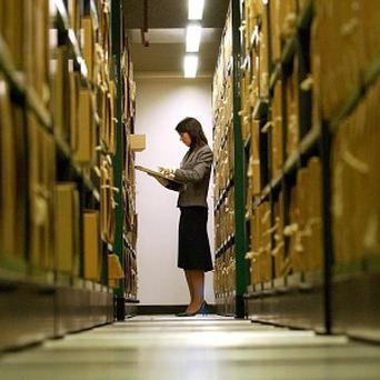 A researcher has found heroin on a Foreign Office file stored in the National Archives