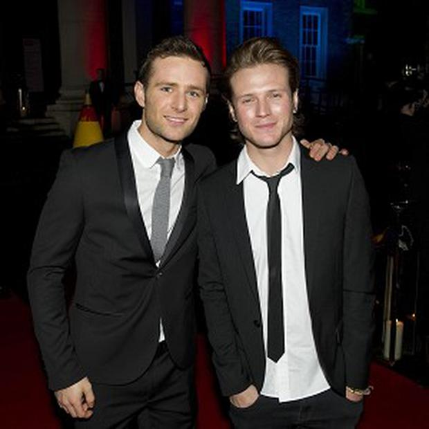 Harry Judd and Dougie Poynter from McFly paid tribute to real heroes at the Military Awards