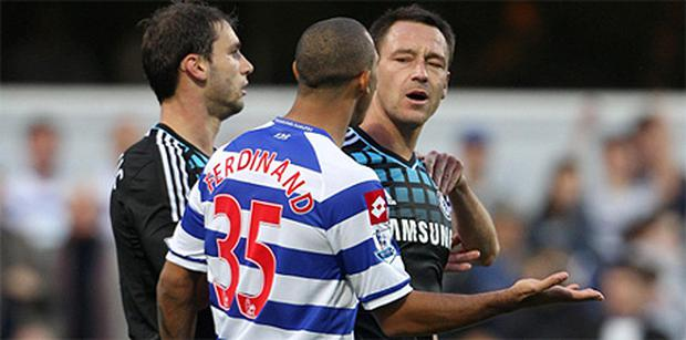 John Terry argues with Anton Ferdinand over the alleged remarks