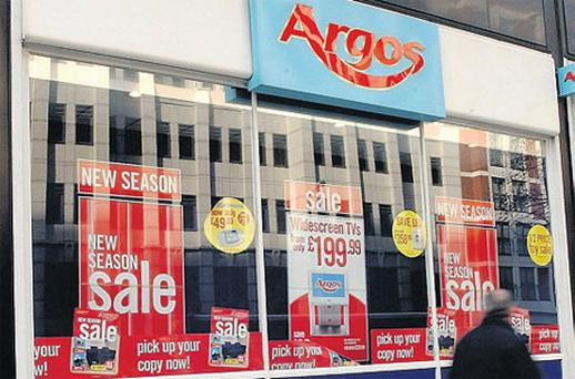 Argos (Ireland) posted a rise of 4pc in sales to €213.8m in the twelve months to last February
