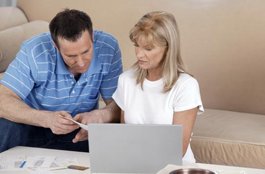 New figures show that one-in-five homeowners across the country are in trouble with their mortgage repayments. Picture posed. Thinkstock