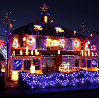 Stan Truleove has decorated his house with more than 50,000 lights to raise money for charity