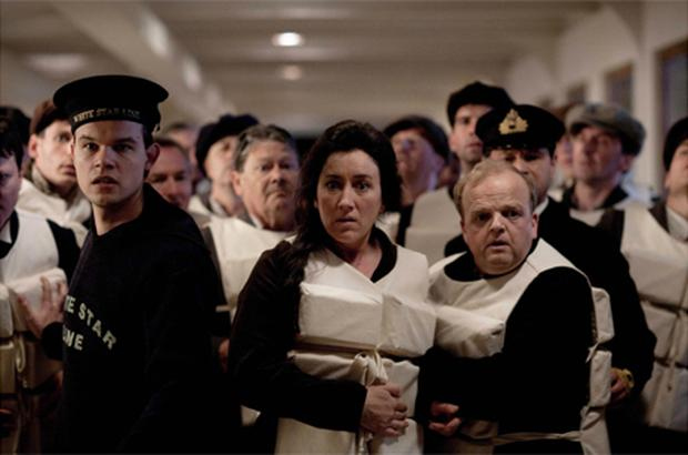 Maria Doyle Kennedy (centre) as Muriel Batley and Toby Jones (right) as John Batley in a two minute trailer for an ITV drama about the Titanic. Photo: PA