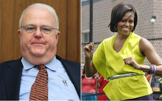Republican Jim Sensenbrenner and US First Lady Michelle Obama. Photo: AP