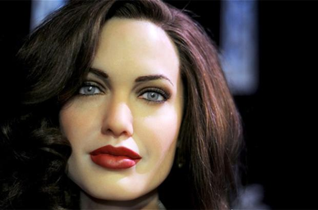 The wax figure of Angelina Jolie at Madame Tussaud's in Hollywood. Photo: Getty Images