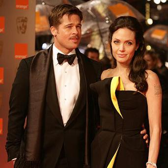 Angelina Jolie thought about her own relationship with Brad Pitt while making the film