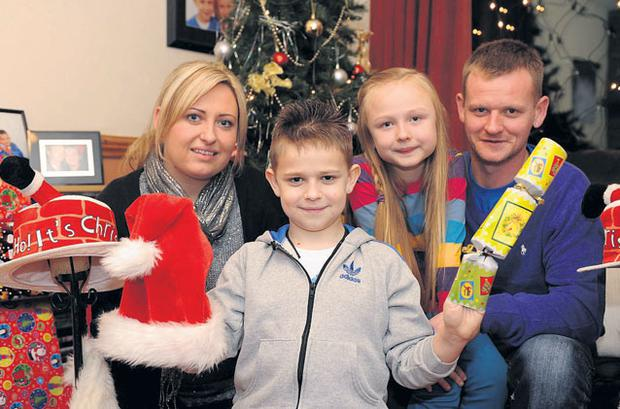 Paul O'Sullivan (9) arrived at his home in Killarney, Co Kerry, last night to spend today and Christmas Day with his parents Theresa and Tony and his sister Kelly Ann (7).