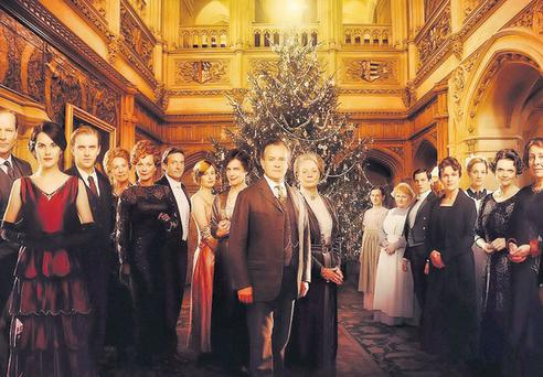 CHRISTMAS UPSTAIRS: When the Queen's Speech is fully digested, join the Crawley family for some seasonal intrigue at 'Downton Abbey'