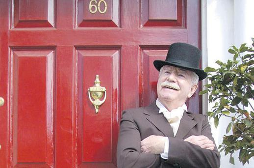FAVOURED BY FORTUNE: Lee Dunne, in Fitzwilliam Square, Dublin, at the launch of his book 'Dancers of Fortune' in 2005. Photo: Graham Hughes