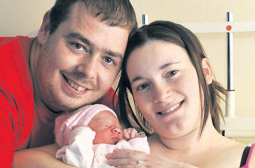 Steven Quinn and Laura Burke with their new daughter (not yet named)