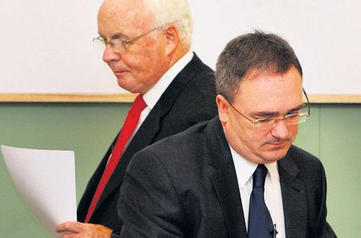 NAMA chairman Frank Daly and chief executive Brendan McDonagh at the publication last July of the agency's first annual report for 2010