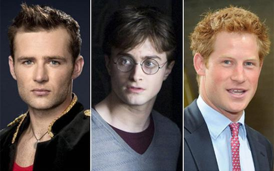 Strictly Come Dancing winner Harry Judd, Harry Potter and Prince Harry. Photo: BBC/AP/PA