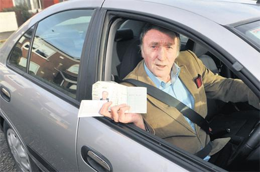 Learner driver Ray Heffernan from Mayfield, Co Cork, who has failed at his 11th attempt to pass his driving test