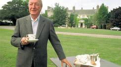Charles Haughey at his Abbeville home in Dublin