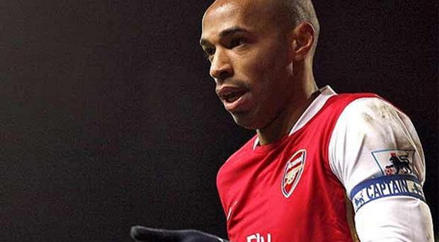 Back in town: Thierry Henry will return to Arsenal subject to paperwork being finalised. Photo: Getty Images