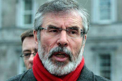 DENIAL: Sinn Fein leader and TD Gerry Adams
