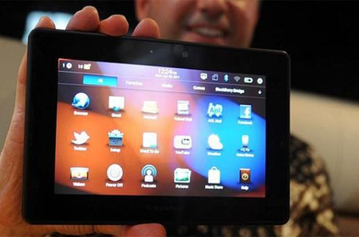 The BlackBerry PlayBook. Photo: AP