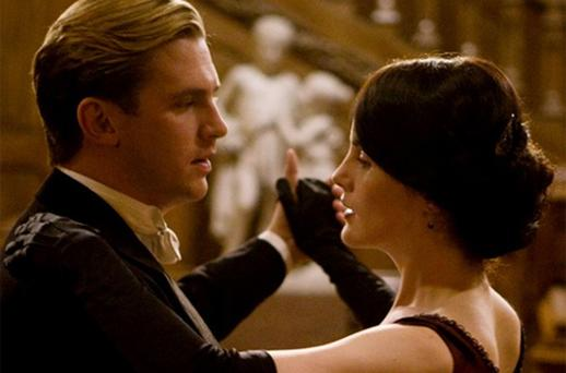 Dan Stevens as Matthew Crawley and Michelle Dockery as Lady Mary. Photo: ITV