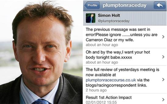 Simon Holt and his risque message