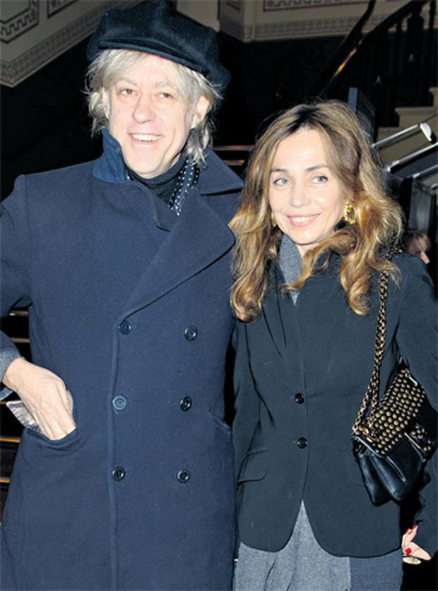 Bob Geldof, pictured at London's Royal Albert Hall last night with his partner Jeanne Marine