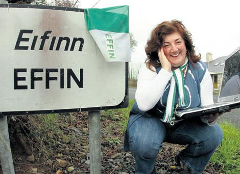 Proud Effin woman Ann Marie Kennedy, who started the campaign to get her homeplace of Effin in Co Limerick recognised by Facebook