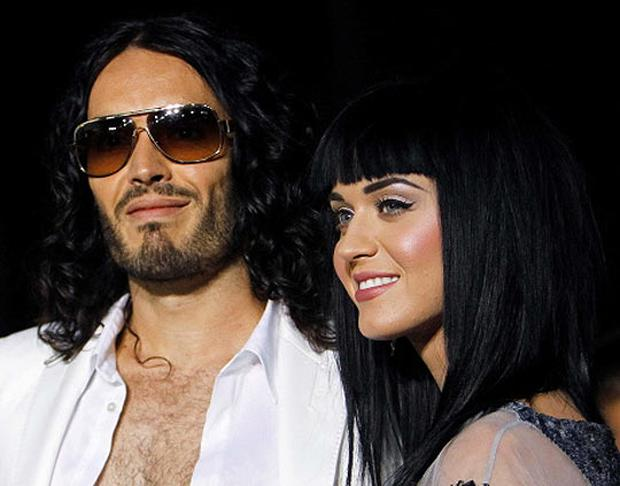 Russell Brand and Kay Perry