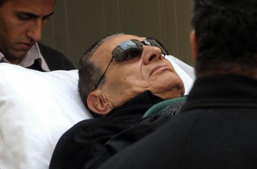 Hosni Mubarak in court yesterday. Photo: Getty Images
