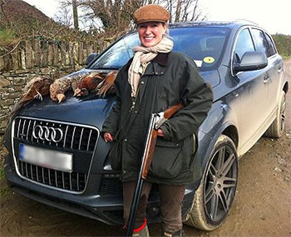 The controversial picture Rachel Allen posted after a 'great day's shooting'