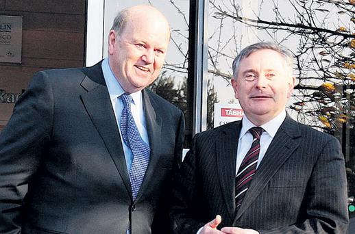 Tensions have been mounting between Finance Minister Michael Noonan and Public Spending Minister Brendan Howlin over applying the public service salary cap to the new secretary general at the Department of Finance.