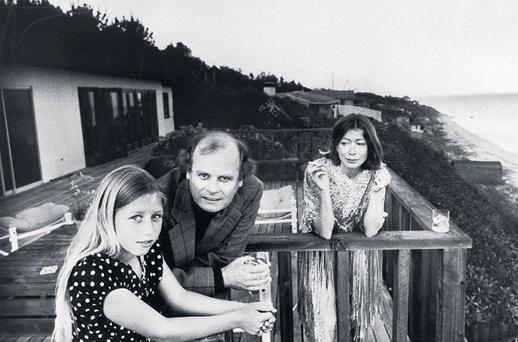 A TROUBLED CHILD: Quintana Roo Dunne Michael with her parents, American authors and scriptwriters John Gregory Dunne and Joan Didion, in Malibu, California, in 1976. In her memoir, Didion lays bare her fears of death and ageing