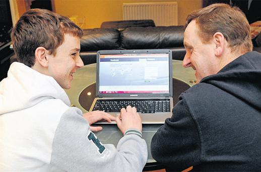 Parental guidance: Ciaran Rigney (left), with dad Joe, found help from his parents beneficial