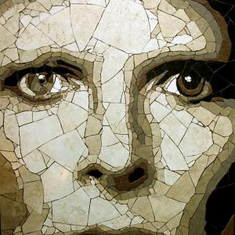 A mosaic by Ed Chapman of David Bowie who is turning 65