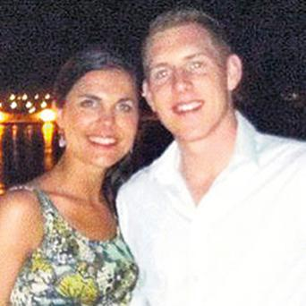 Michaela Harte with her husband John McAreavey, who will attend the trial