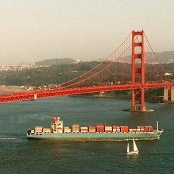 The Golden Gate Bridge, in San Francisco, was completed in 1937