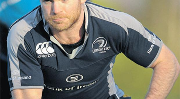 Gordon D'Arcy shrugged off a knock to his ribs to take part in yesterday's session