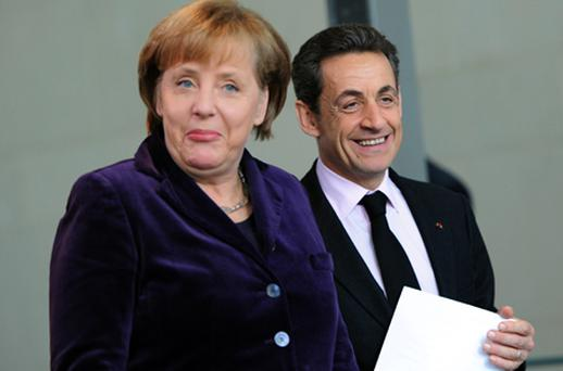 German Chancellor Angela Merkel and French President Nicolas Sarkozy. Photo: Getty Images