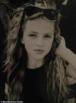 Noel Gallagher's 11-year-old daughter Anais. Photo: Mario Testino on Twitter