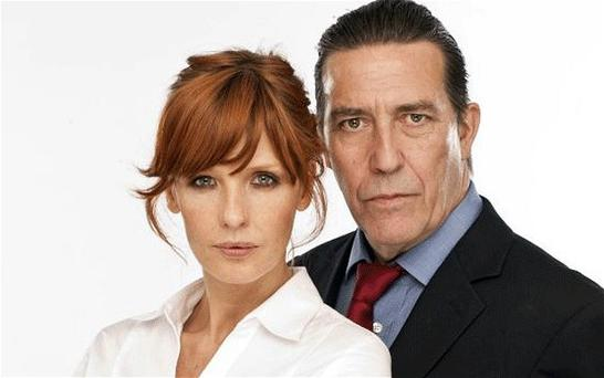 Ciarán Hinds as DCS Langton and Kelly Reilly as DI Travis in Above Suspicion Photo: ITV