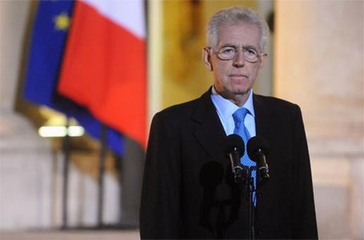 Italian Prime Minister Mario Monti. Photo: Getty Images