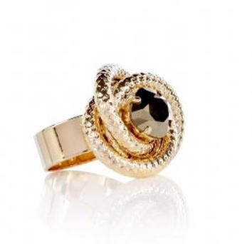 Anton Heunis triple tube twisted stone ring. €40.80 was €82.80 on mywardrobe.com