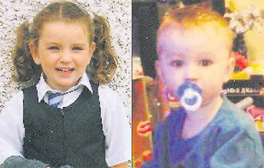 Jenna (left) and Jayden Murden, who died after being involved in a car accident in Dundalk in January 2009